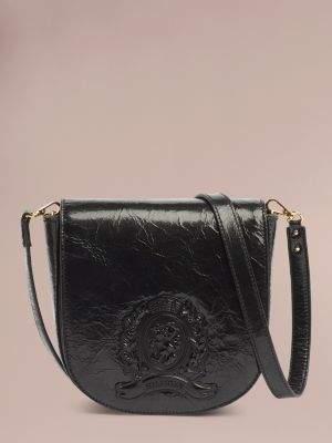 Tommy Hilfiger Patent Leather Embossed Crest Bag