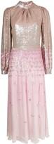 Temperley London sequin gradient flared dress