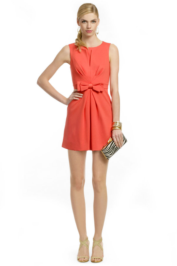 Trina Turk Coral Bow Front Sheath