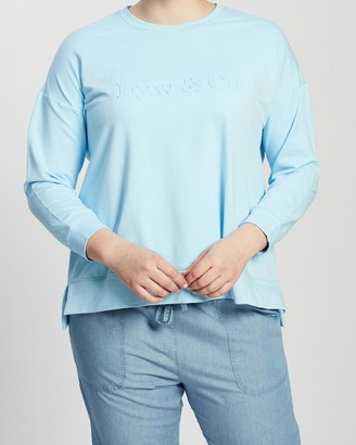 Love Your Wardrobe Lyw & Co Embossed Sweat