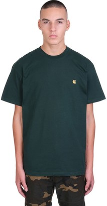 Carhartt Chase T-shirt In Green Cotton