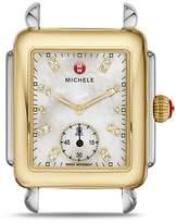 Michele Deco Two-Tone Diamond Dial Watch Head, 29 x 31mm