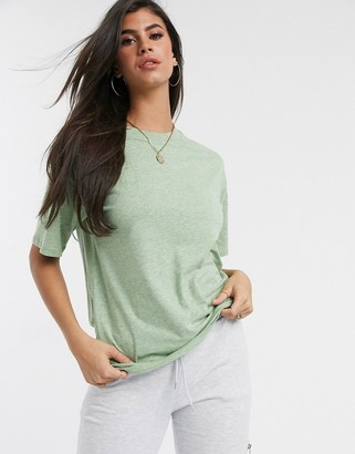 Asos DESIGN oversized t-shirt in overdyed marl in green