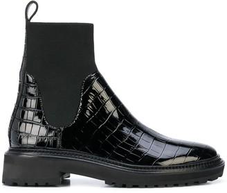Loeffler Randall Chelsea croc-effect ankle boots