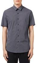 Topman Short Sleeve Daisy Dot Print Shirt