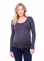 Ingrid & Isabel Long Sleeve Scoop Neck Maternity Tee