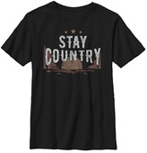 Fifth Sun Boys' Tee Shirts BLACK - Black 'Stay Country' Tee - Boys