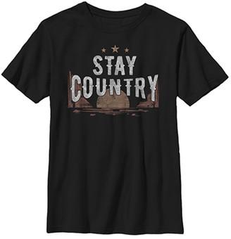 Fifth Sun Boys' Tee Shirts BLACK - Black 'Stay Country' Tee - Boys