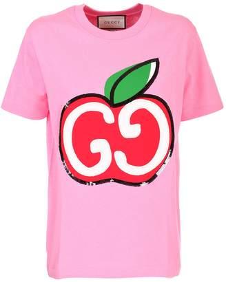 Gucci Pink cotton jersey T-shirt