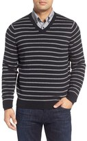 Nordstrom Stripe V-Neck Sweater