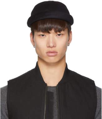 Junya Watanabe Black Beton Cire Edition Wool Miki Cap