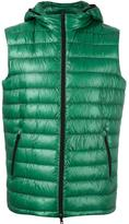 Herno zipped hooded gilet - men - Feather Down/Polyamide/Polyester/Polyimide - 50