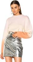 Proenza Schouler Wool & Cashmere Dip Sweater in Neutrals,Pink.