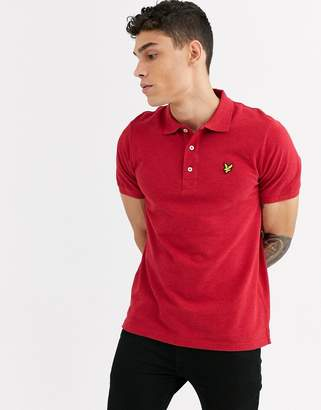 Lyle & Scott marl polo shirt-Red