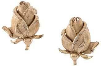 Susan Caplan Vintage 1970s Floral Earrings