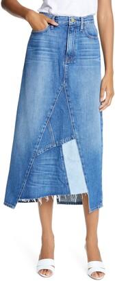 Frame Le Midi Patchwork Denim Skirt