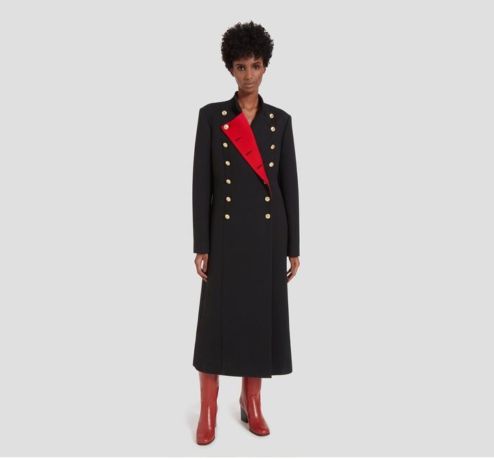 Mulberry Frances Coat Black Cavalry Twill