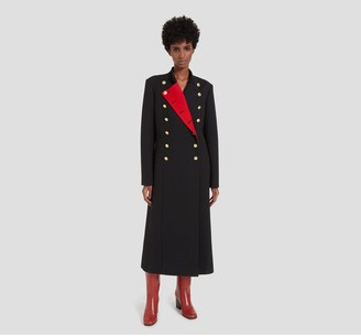 Mulberry Frances Coat Black Cavalry Twill