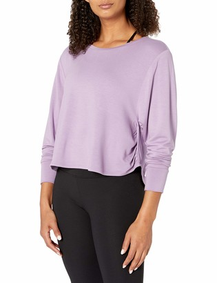 Core Products Core 10 Women's Standard Soft French Terry Cropped Long Sleeve Yoga Sweatshirt