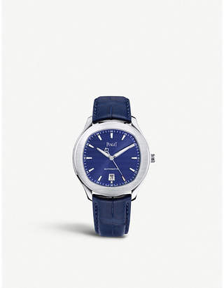 Piaget G0A43001 Polo S stainless steel and leather watch