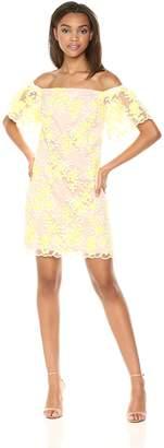 Trina Turk Trina Women's Merengue Off The Shoulder Lace Dress