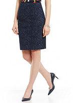 Kasper Textured Knit Jacquard Pencil Skirt