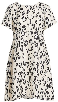 Lafayette 148 New York, Plus Size Amanda Spotted Silk A-Line Dress
