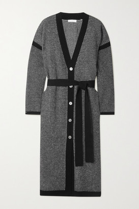 Eres Belted Wool And Cashmere Cardigan - Black