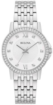 Bulova Women's Stainless Steel Bracelet Watch 32mm