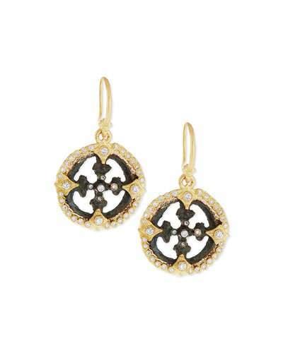 Armenta Sueño Open Cross Diamond Artifact Earrings