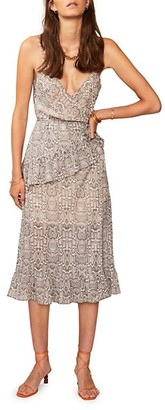 SUBOO Sylvie Wrap Frill Midi Dress