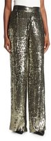 Alice + Olivia Racquel High-Waist Wide-Leg Sequin Pants