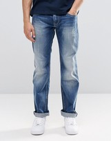 Pepe Jeans Pepe Hatch Slim Jeans E64 Mid Blue Distressed