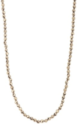 ADORNIA Adjustable Facetted Pyrite Necklace