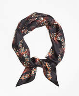 Brooks Brothers Flower Silk Twill Scarf