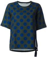 Christian Wijnants 'Tami' polka dots sweatshirt - women - Ramie/Spandex/Elastane/Viscose - 40