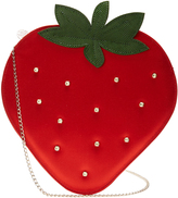 Charlotte Olympia Strawberry satin pouch