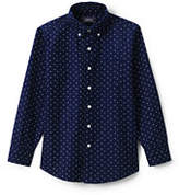 Lands' End Little Boys Printed Washed Oxford Shirt-Deep Sea Stars