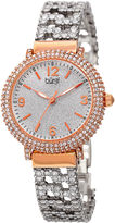 Burgi Womens Silver Tone Bracelet Watch-B-140rg