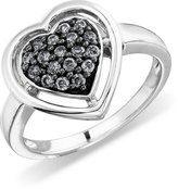 AX Jewelry Silvermist Diamonds Sterling Silver Heart Ring 1/4ctw