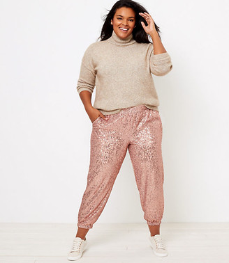 LOFT Plus Sequin Jogger Pants