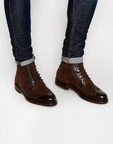 Ted Baker Miylan Brogue Boots - Brown