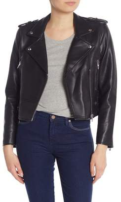 Blank NYC BLANKNYC Denim Faux Leather Moto Jacket