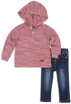 7 For All Mankind Boys' Hooded Henley & Jeans Set