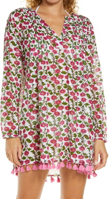 Roller Rabbit Dakini Floral Ziva Long Sleeve Cover-Up Tunic