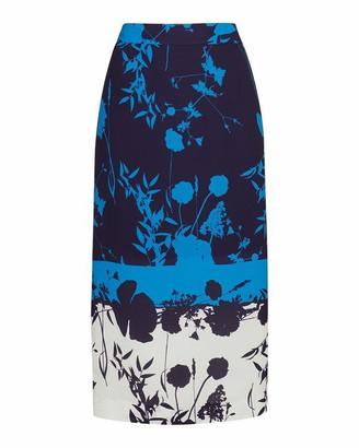 Ted Baker Selaah Bluebell Side Slit Midi Skirt