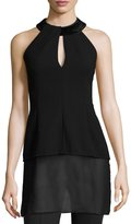 Akris Embellished Halter-Neck Top, Black