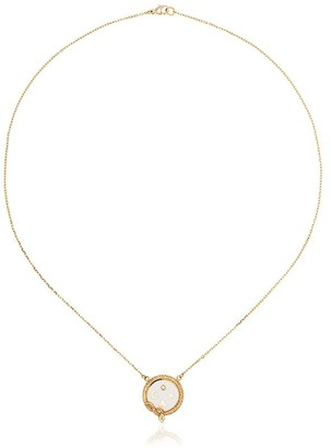 Foundrae Wholeness necklace with 18k yellow gold and diamond