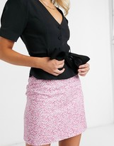 Thumbnail for your product : And other stories & linen floral print mini skirt in pink