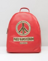 Love Moschino Backpack With Peace Logo